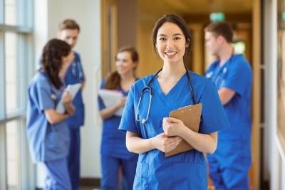 medical student smiling